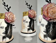 Woman by MOLI Cakes Cakes For Women, Painted Cakes, Cake Art, Cake Designs, Amazing Cakes, Food Art, Cake Decorating, Flowers, Woman