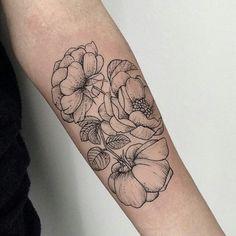 .flower tattoo art