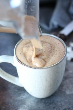 Start your day off right with this creamy delicious Gut-Healing Cinnamon Coconut Latte - abundant in metabolism boosting fats and gut-healing collagen. Tea Recipes, Coffee Recipes, Whole 30 Recipes, Real Food Recipes, Food Tips, Yummy Drinks, Healthy Drinks, Yummy Food, Dinner Healthy