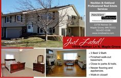Just Listed! 10599 Nathan Ln N, Maple Grove, MN 55369  Lovely 3 bedroom townhome w/view of wooded common area from deck & patio! Recent updates: windows, front & garage door, furnace, hot water heater, kitchen appliances & cupboard doors, W/D, Laminate wood floors & carpet. Walk to parks & bike/hike trails in area. Huge master bedroom w/walk-in closet.  For more info and photos visit: http://www.mndreams.com/listing/mlsid/152/propertyid/4471454/