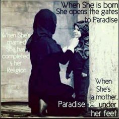 Subhan'Allah, such a high status for women in Islam ❤
