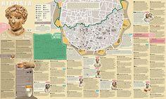 Nicosia Map Tourist Attractions Asia Cypr Nicosia