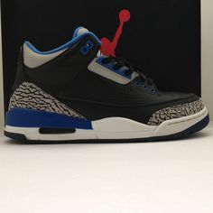 Nike Air Jordan 3 III Retro Sport Blue Size 9.5