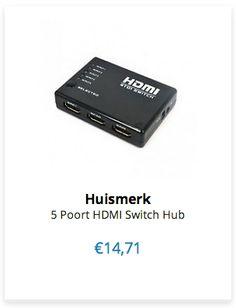 € 14,71 Huismerk 5 Poort HDMI Switch Hub www.ovstore.nl/nl/5-poort-hdmi-switch-hub.html