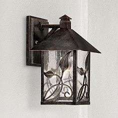 """Our favorite outdoor light, but 15 inch for by the doors.  French Garden Collection 10 1/2"""" High Outdoor Wall Light"""