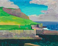 Samuel Joensen-Mikines: Landscape from the Faroe Islands. Signed S. Mikines Oil on canvas. 100 x 125 cm. - Bruun Rasmussen Auctioneers of Fine Art Faroe Islands, Cubism, Still Life, Oil On Canvas, Pop Art, Art Ideas, Abstract Art, Illustration Art, Coast