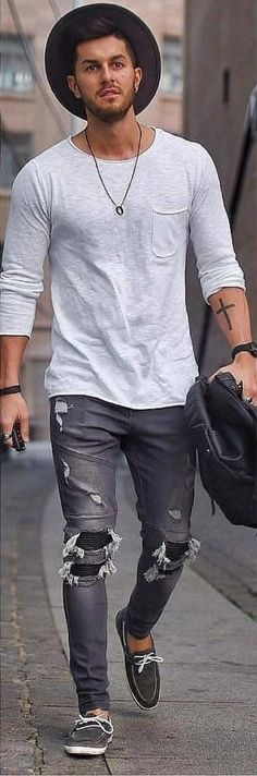 Summer Outfits Men, Stylish Mens Outfits, Casual Outfits, Men Casual, Men Summer, Dope Fashion, Fashion Killa, Mens Fashion, Outfits With Hats