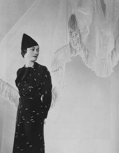 Wallis in a dress by Elsa Schiaparelli  Photo by Cecil Beaton