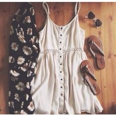 Dress: sunglasses shoes cream summer spring style cardigan white cut-out summer summer outfits cute