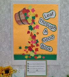 A close up of the poster in the display I made for my church library.