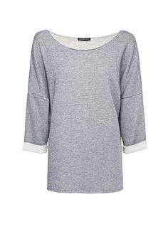 MANGO - CLOTHING - Cardigans and sweaters - Loose-fit lurex sweatshirt