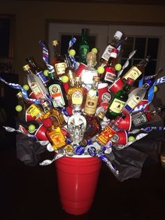 birthday basket Birthday gifts for boyfriend alcohol mini bottles Ideas 21st Birthday Presents, Guys 21st Birthday, Birthday Gift Baskets, 21st Gifts, 21st Birthday Gifts For Boyfriend, 21st Birthday Basket, 21 Birthday, Alcohol Gift Baskets, Liquor Gift Baskets