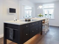 from Sola Kitchens - I appreciate the thickness of the countertop - not the black/white colorway