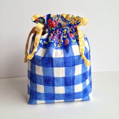 Quilted Drawstring Bag  Mother's Day or by MyCreativeFrenzy