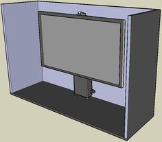 Home automation POP UP TV LIFT cabinet installation instructions