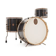 A&F Drum Co. 3-dels Black Club Maple Shell Pack
