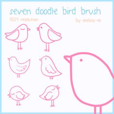 Bird Doodle Brush Free commercial use