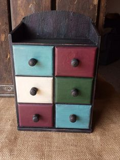 Notion/Spice Cabinet, rustic, primitive on Etsy, $30.00