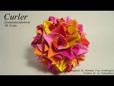 ▶ Origami Curler Icosidodecahedron (Herman Van Goubergen ) - YouTube