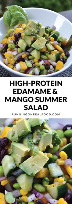 Frugal Food Items - How To Prepare Dinner And Luxuriate In Delightful Meals Without Having Shelling Out A Fortune This High-Protein Edamame Mango Salad Is Easy To Make, Fresh, Tangy, Vegan, Low In Fat And Perfect For Summer Picnics And Potlucks Plant Based Eating, Plant Based Diet, Plant Based Protein, Whole Food Recipes, Healthy Recipes, Salad Recipes, Cooking Recipes, Detox Recipes, Easy Cooking