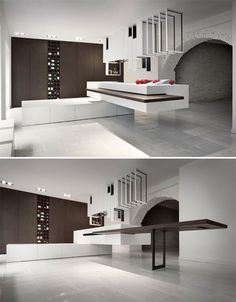 Cooking With Style – Contemporary Kitchen Designs - A Interior Design Kitchen Room Design, Kitchen Interior, Kitchen Decor, Küchen Design, Interior Design, Contemporary Kitchen Design, Contemporary Bedroom, Minimalist Home, Home Kitchens