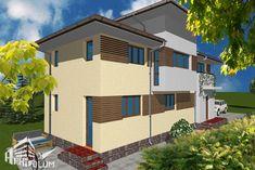 Case cu latimea de 7 metri - 3 proiecte generoase - Case practice Utila, Modern Design, Real Estate, Exterior, Mansions, House Styles, House Ideas, Home Decor, Diy
