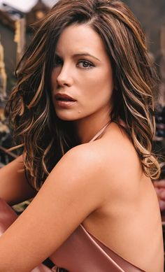hair colors, kate beckinsale, long hair, new hair, blonde highlights, beauti, hair highlights, hairstyl, brown hair