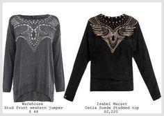 inspiration and realisation: DIY fashion blog: studs vs. studs: Isabel Marant top