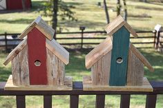 Rustic Barn Birdhouse Distressed Reclaimed Pallet Wood Small