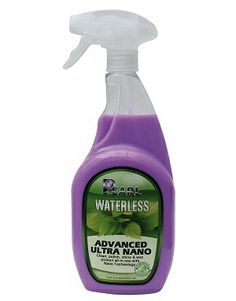 Pearl Waterless Advance Ultra Nano. It is the ultimate exterior cleaning & detailing solution: clean, refresh, shine & protect in one.  An environmentally friendly product, contains no harsh chemicals or abrasives which could damage paintwork and trim.  It has a unique formula contains an advanced blend of surfactants, polymers, carnauba and the latest Nano technology waxes.