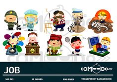 Jobs Cute Clipart /Digital Clip Art for Commercial by comodo777
