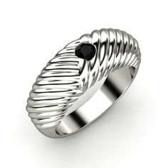 The Braided Ring customized in black onyx and white gold #mens #wedding