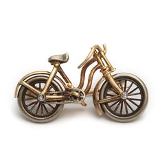 Late 19th c English bicycle brooch