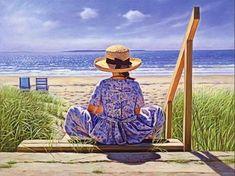 Sally at the seashore...