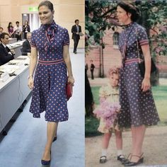 "893 Likes, 19 Comments - Royal Addicted 2 (@royaladdicted2) on Instagram: ""#Crown Princess Victoria Style! This dress was first worn by her mother, Queen Silvia, in 1980…"""