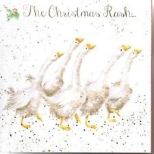 Wrendale Designs Christmas 8 cards & envelopes in gift wallet gaggle of geese