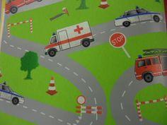 behang kinderen brandweer/politie/ambulance 470802