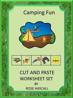 Camping, fishing, hiking and swimming are all fun ways to relax. Children can have fun reliving those moments with this Camping Fun Cut and Paste worksheet set. These Cut and Paste Worksheets are aligned with Common Core standards with 19 pages of activities.