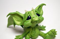 Hey, I found this really awesome Etsy listing at https://www.etsy.com/listing/218705835/original-green-baby-wish-dragon-art-doll