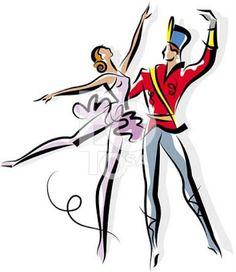 nutcracker ballet silhouettes including clara herr drosselmeyer rh pinterest com nutcracker ballerina clipart