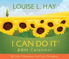 You can get help with Daily Affirmations from Louise Hay. She made I Can Do It Calendar, for 365 daily affirmations (2011). The calendar has 384...
