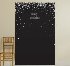The Black & White Dotted Photo Booth Backdrop is perfect for DIY photographers! Add some props and let your guests have fun with this photo backdrop. #weddingdecorations