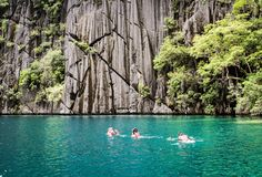 Snorkeling in Baraccuda Lake Narnia, Snorkeling, Philippines, Environment, Country, Places, Travel, Diving, Voyage
