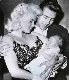 Mickey Hargitay alongside Jayne Mansfield and baby.