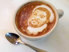 Ain't nothing like a cup of Ice Cube first thing in the morning! Just how far can coffee art go? Click to see some pretty crazy cool examples