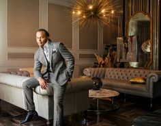 PinkEggshell - Talk about Swagger at Home! Michel Boyd of Smith Boyd Interiors in the living area of his midtown loft