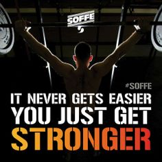 It never gets easier you just get #stronger  #Soffe #XT46 #Fitness #Motivation #Fit #Quote