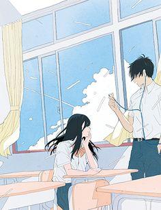 Pretty Art, Cute Art, Aesthetic Art, Aesthetic Anime, Film Manga, Manga Poses, Cute Couple Art, Chica Anime Manga, Korean Art