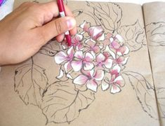 Painting Hydrangea Flowers Step by Step Tutorial