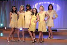 glee yellow dresses